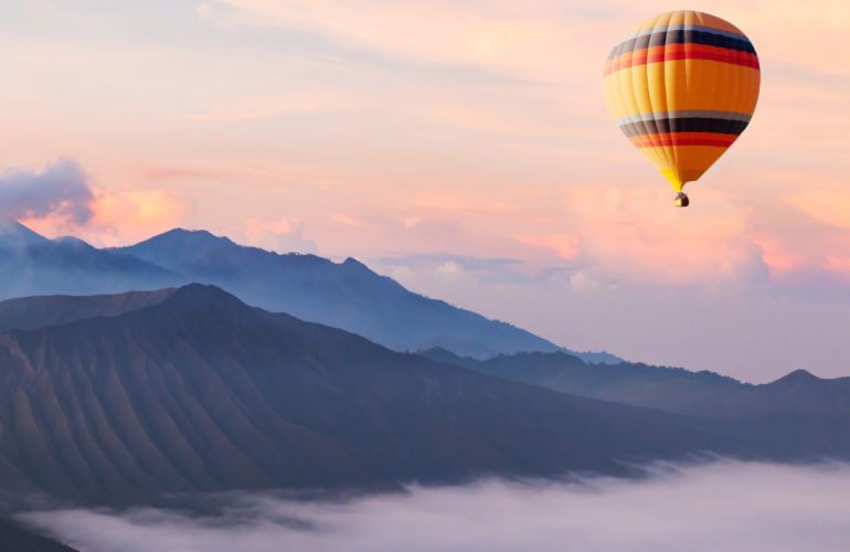 Lifted Hot Air Balloon Clouds