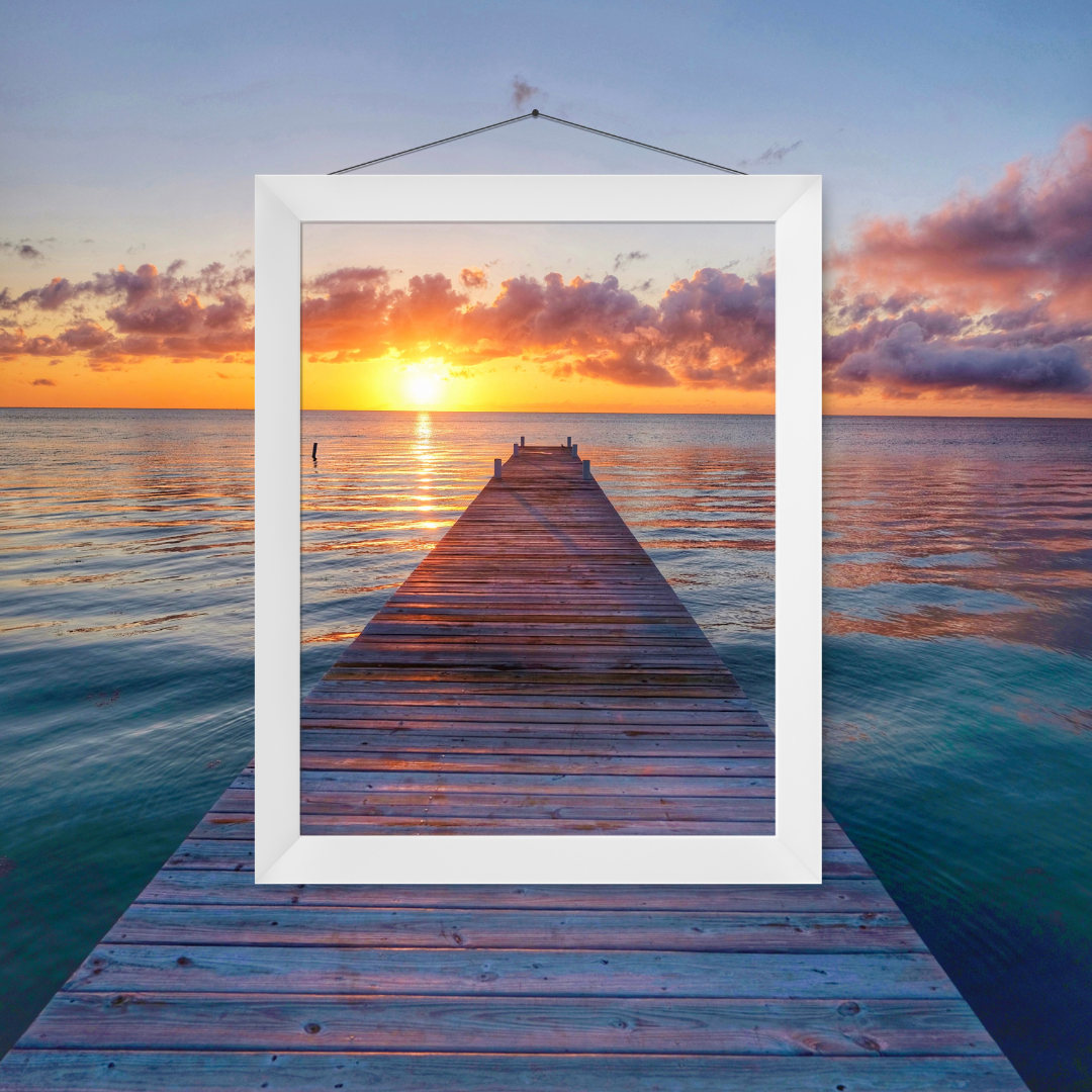 sunset and picture frame